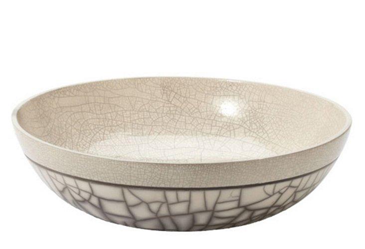 Gray Sand Raku Bowl