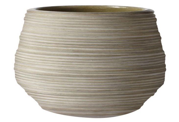 Corrugated Ceramic Pot