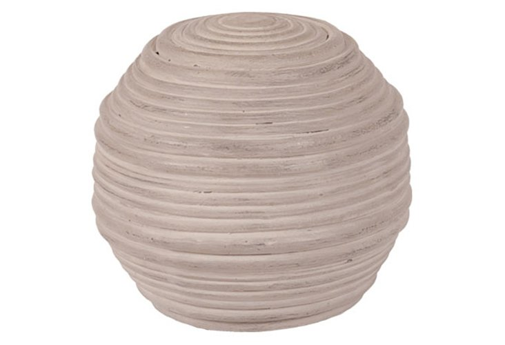 Gray Ceramic Croquet Ball, Large