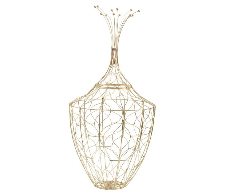 Gold Piper Wire Basket, Large