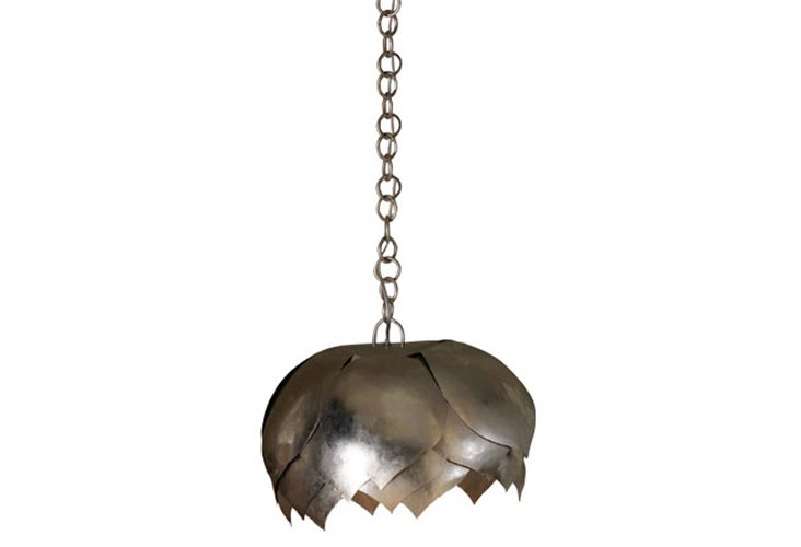 Iron Lotus Hanging Lamp, Large