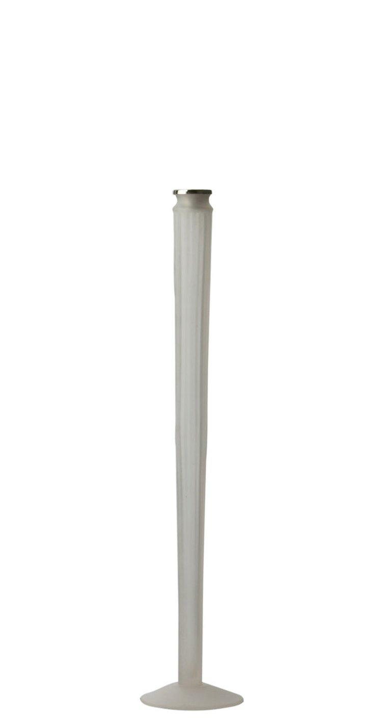 Frosted Rib Candleholder, Medium