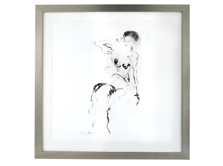 Charcoal & Ink w/ Silverleaf Frame