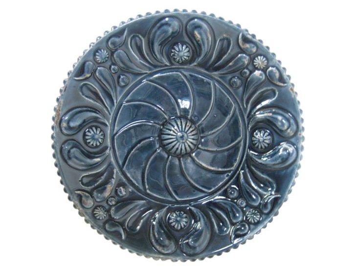 Midnight Florid Ceramic Wall Art