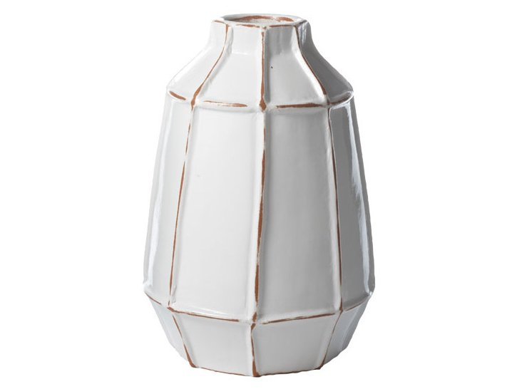 White Windowpane Vase