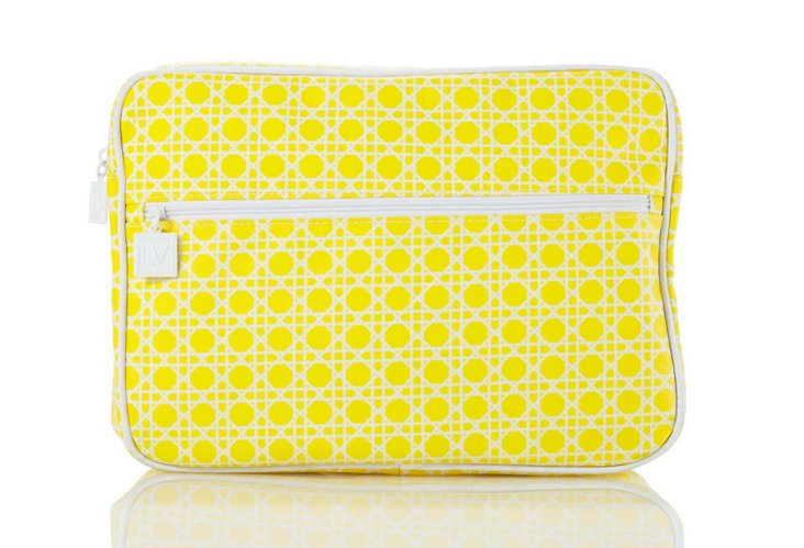 Liz Victory Geo Cosmetics Bag, Yellow