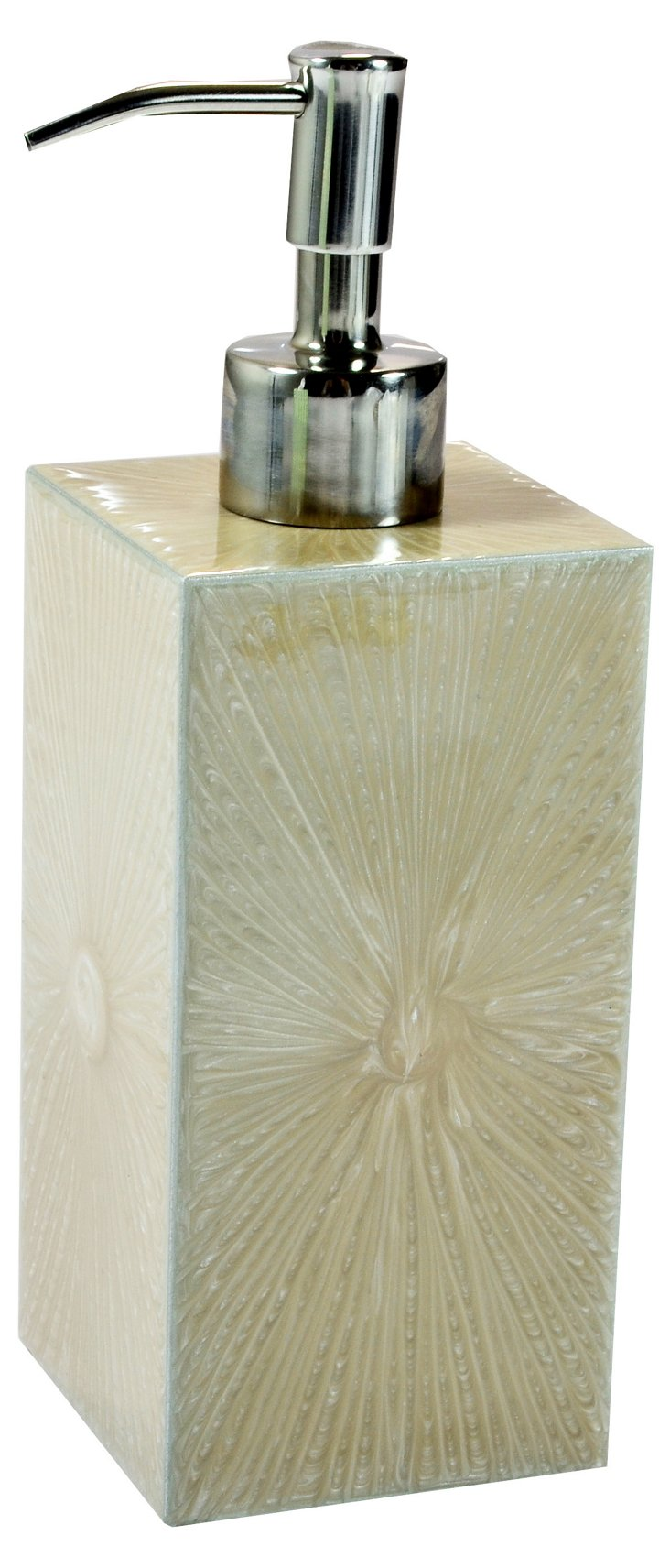 Chateau Lotion Pump, Putty/Silver
