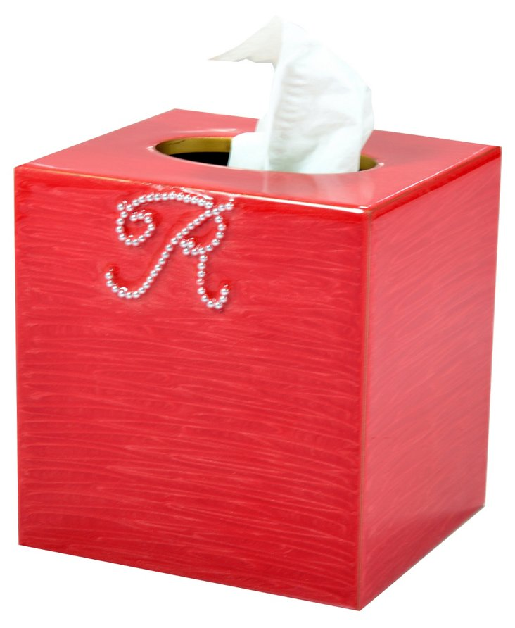Ego Tissue Box, Coral/Gold