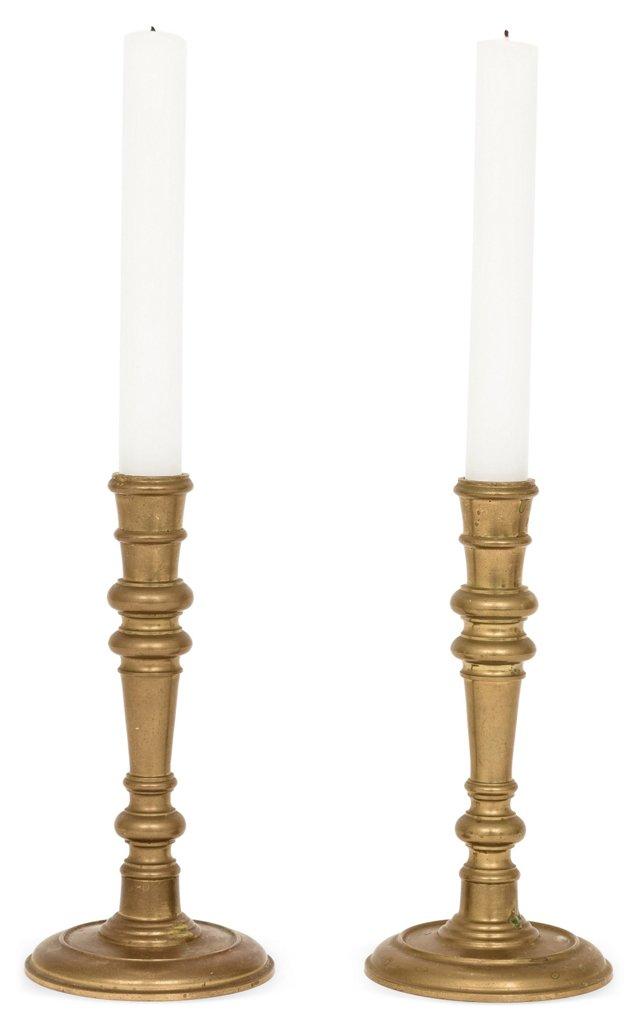 Brass Candlesticks, Pair I
