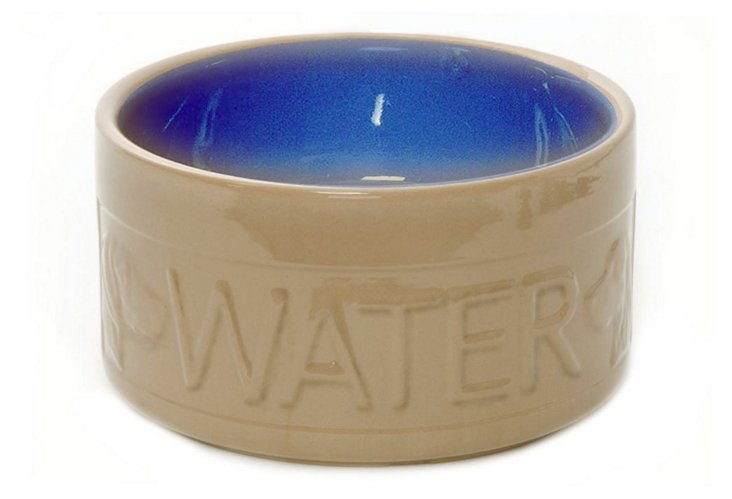Water Bowl, Cane/Blue