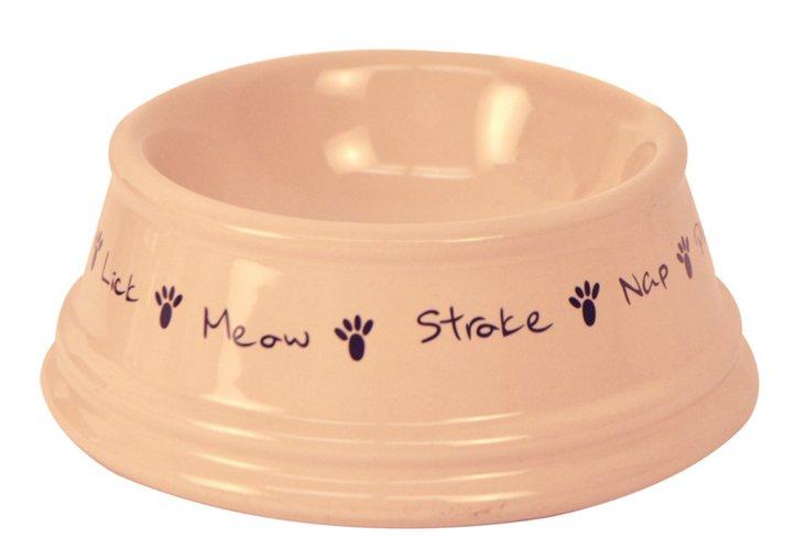 Posh Paws Pet Bowl, Cream