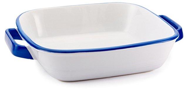 Enamour Square Baking Dish, Blue