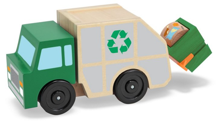 Wooden Garbage Truck