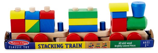 Wooden Block Stacking Train