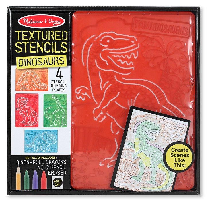 Dinosaurs Textured Stencils