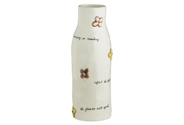 Flower Vase, Cream