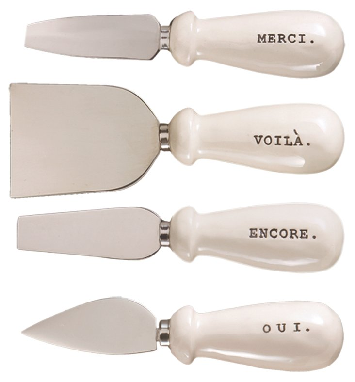 Asst of 4 Word Cheese Knives