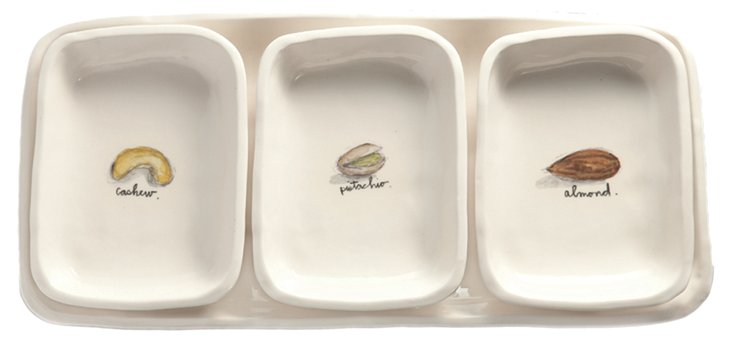 4-Pc Nuts Dish Set