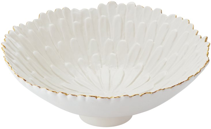Large Mum Footed Bowl, White