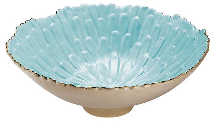 Large Mum Footed Bowl, Blue