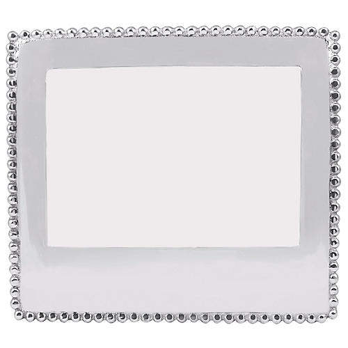 5x7 Beaded Frame, Silver