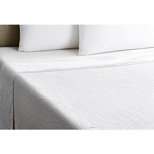 Rope Blanket, White