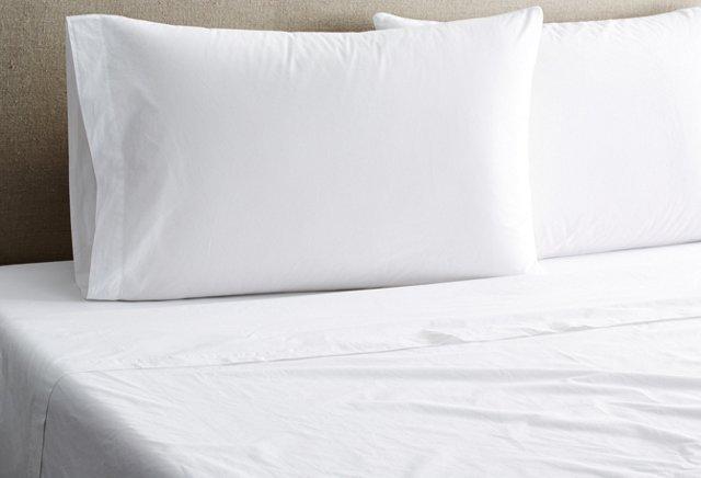 Nap Percale Sheet Set, White