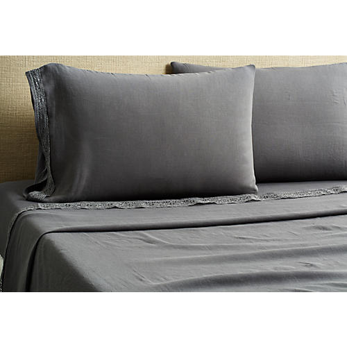 Cluny Sheet Set, Coal