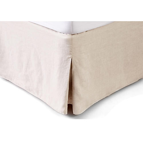 Washed Linen Bed Skirt, Loomstate