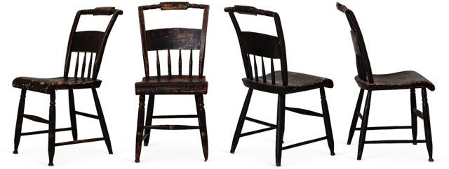 American Hitchcock Chairs, Set of 4
