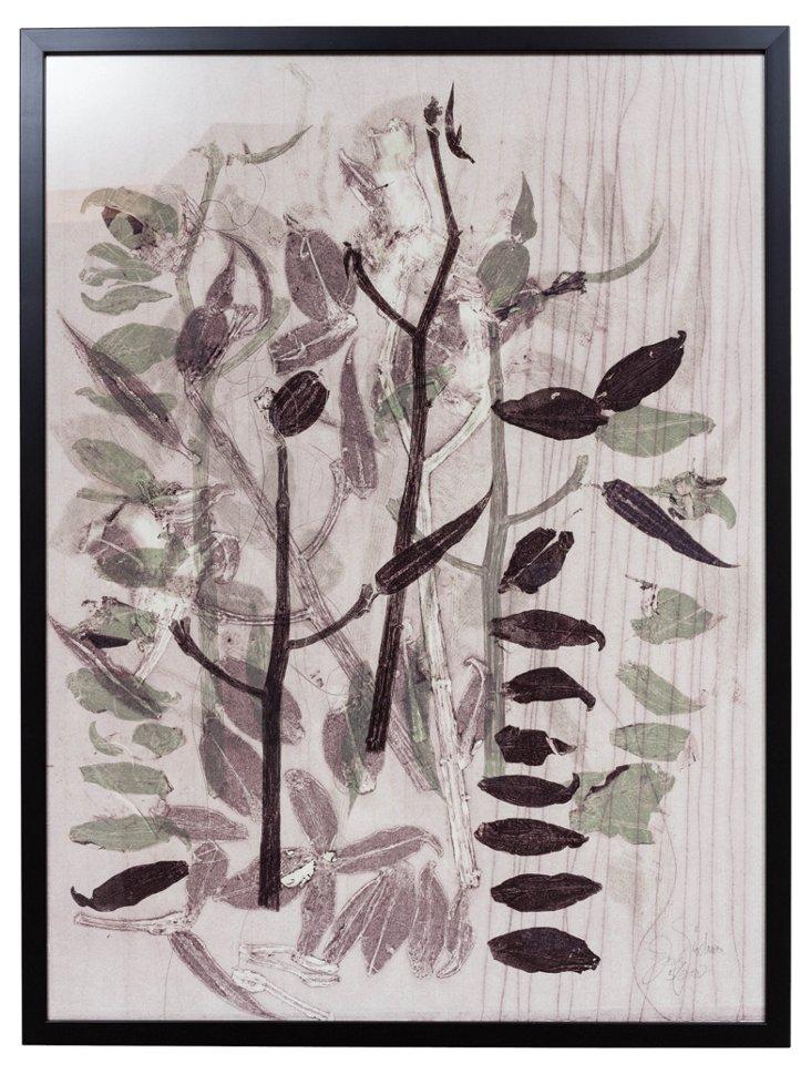 Joan Giordano Leaf Lithograph