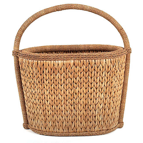 Sweater-Weave Natural Basket