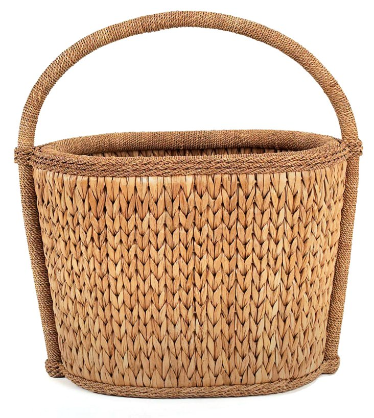 Sweater-Weave Natural Basket