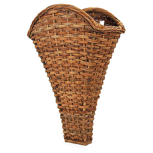 Country French Vineyard Wall Basket