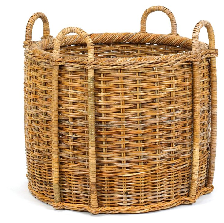 """French Country Round Basket, 24.5"""""""