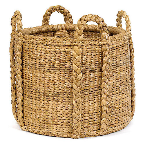 Sweater-Weave Handled Basket