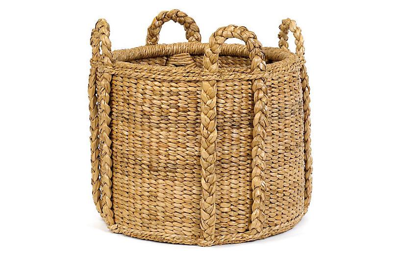 Sweater-Weave Handled Basket