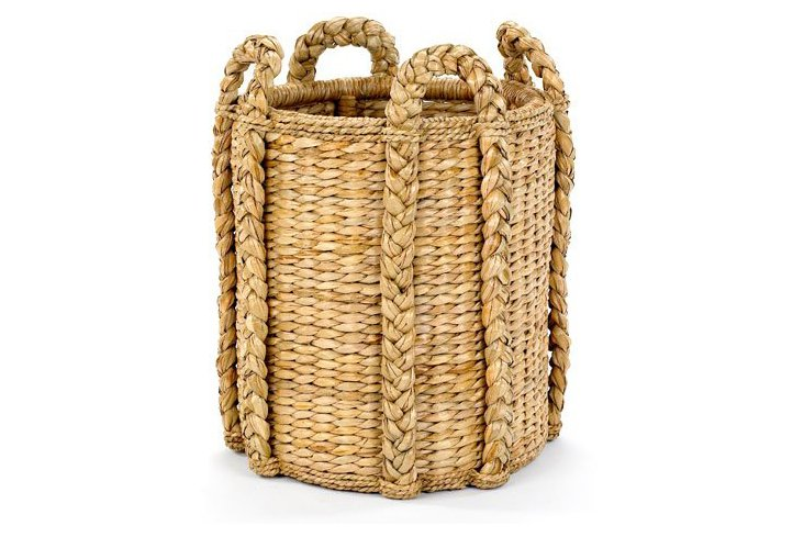 Sweater-Weave Kindling Basket, 20""