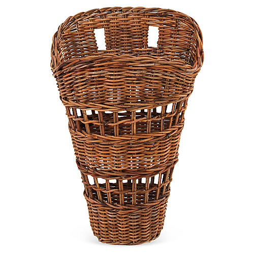 Country Open-Weave Wall Basket