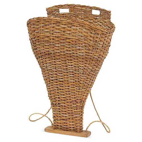 French Country Backpack Basket