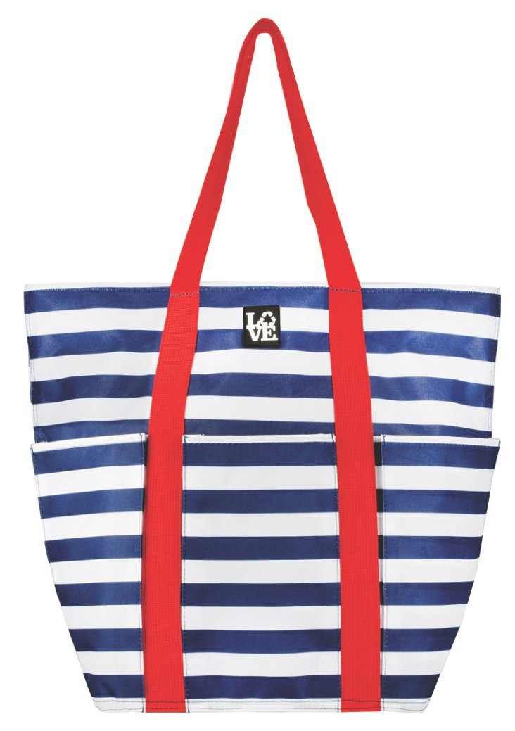 Anchors Aweigh Trio Tote, Red/White/Navy