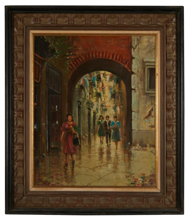 Oil Painting, An Afternoon in Venice