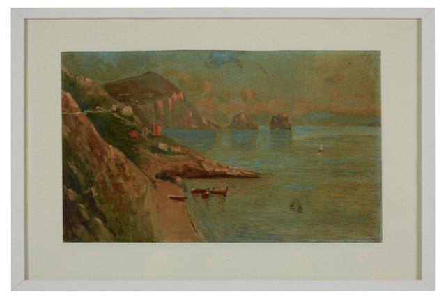 Oil Painting, Italian Seascape