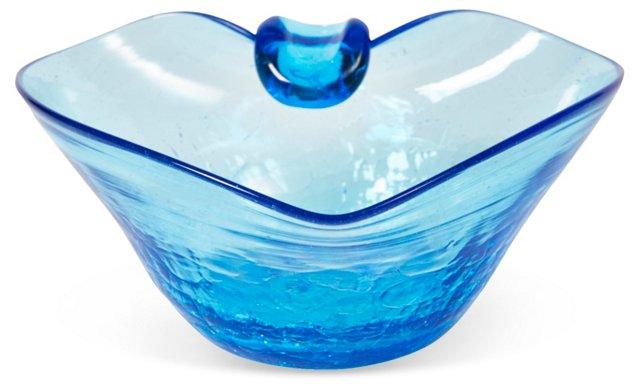 Blue Heart-Shaped Bowl