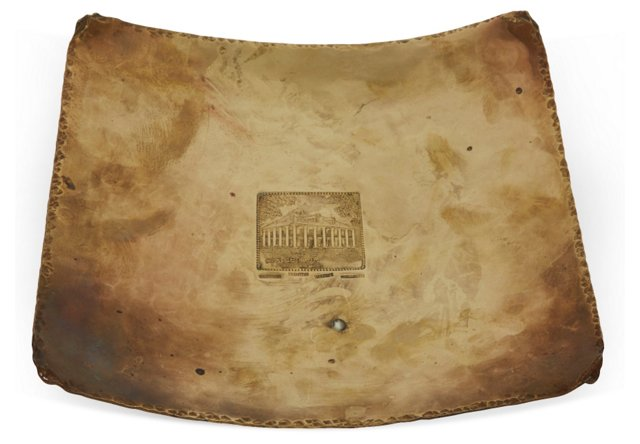 H. Alvin Sharpe Brass Intaglio Tray