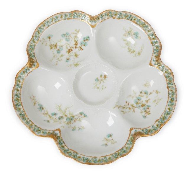 Antique Porcelain Oyster Plate I