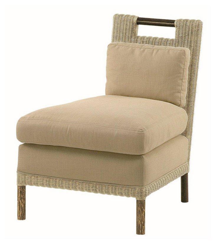 Pheasant Outdoor Slipper Chair, Oatmeal