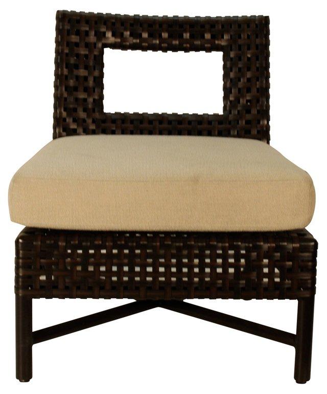 Antalya Outdoor Slipper Chair, Esp/Oat