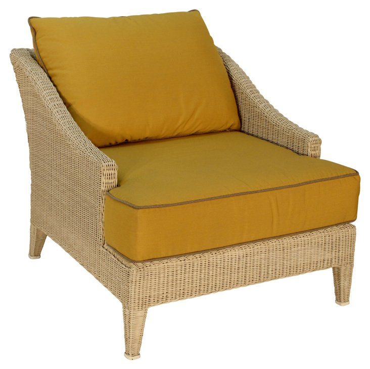 Burton Outdoor Lounge Chair, Sand/Must