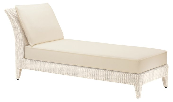 Burton Outdoor Daybed, Ivory
